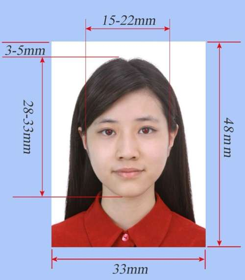 China Visa Photo Size Requirement
