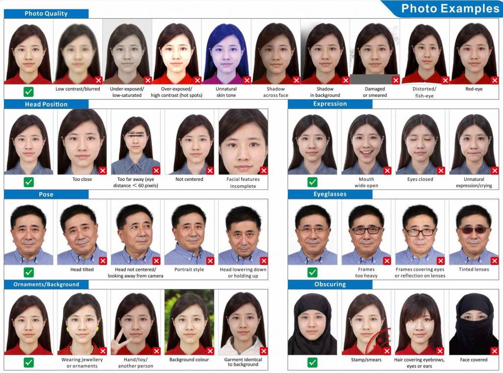 China Visa Photo Facial Requirement